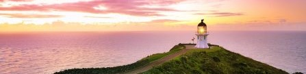 cape-reinga-lighthouse-with-pink-light